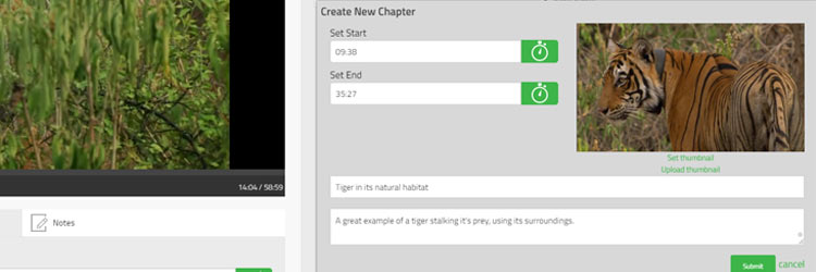 Create Chapters in Planet eStream